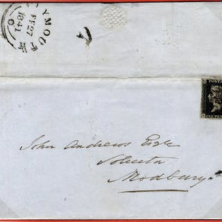 1841 cover to Plymouth, franked Pl.5 SL