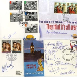 1966 World Cup Winners - collection comprising all 11 signatures plus