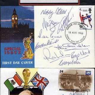 1966 World Cup Winners complete set of 11 signatures