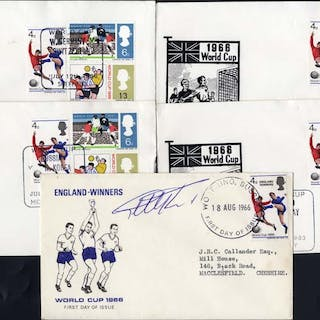 1966 World Cup England commemorative covers - Geoff Hurst signature
