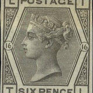 1878 6d grey Plate 16 TL - IMPRIMATUR