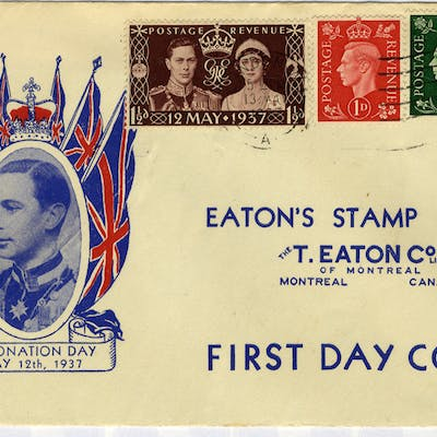 1937 Coronation illustrated First Day Cover carried 'VIA NEW YORK