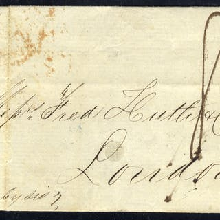 ISLE OF WIGHT 1849 cover from Bahia, Brazil to London, endorsed '8