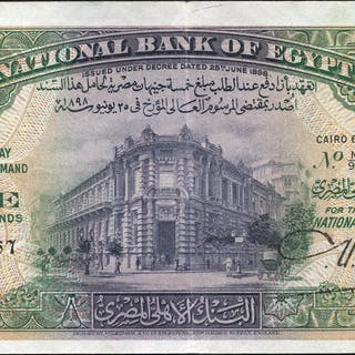 Egypt £5, dated 1945, series M/93, signed Nixon, GVF