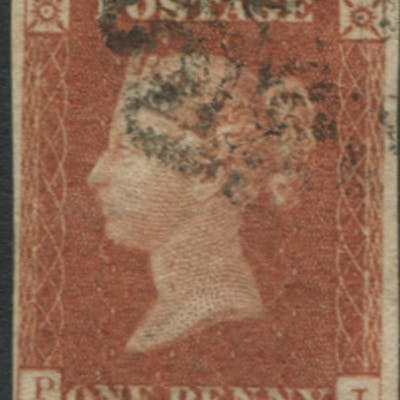 1841 1d red brown Plate 21 PJ