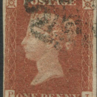 1841 1d red brown Plate 21 PJ
