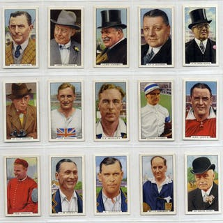 Gallaher 1936 Sporting Personalities, complete set of 48, Cat. £24