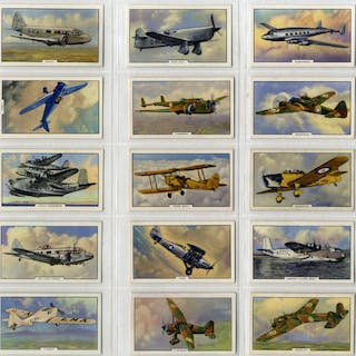 Gallaher 1939 Aeroplanes, complete set of 48, Cat. £48