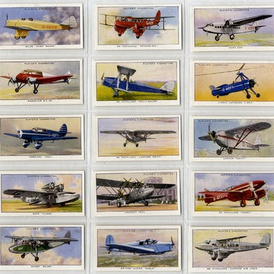 John Player 1935 Aeroplanes, complete set of 50, fine to very fine