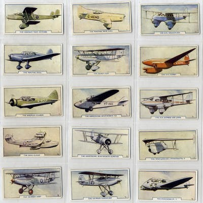 Godfrey Phillips 1938 Aircraft, complete set of 54, Cat. £110