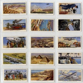 Lambert & Butler 1936 Empire Air Routes, complete set of 50, Cat. £115