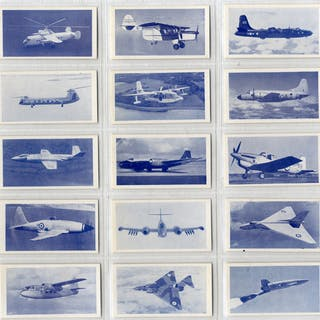 Osborne Tobacco Modern Aircraft (blue front), complete set of 50, Cat. £37.50