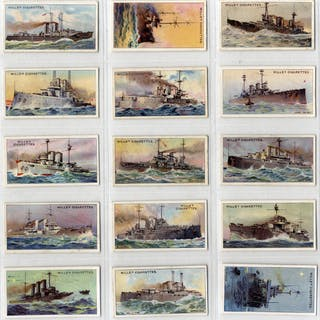 Wills 1910 The World's Dreadnoughts, complete set of 25, Cat. £75