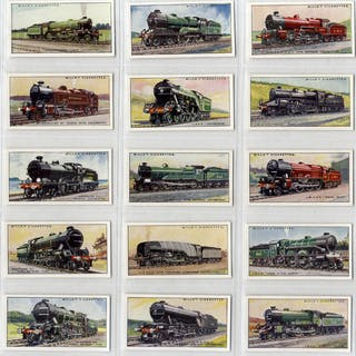Wills 1930 Railway Locomotives, complete set of 50, very fine condition