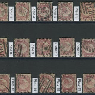 1870 ½d Bantams - complete set of Plates 1 to 20