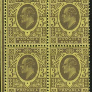 1911 Harrison P.13 x 14 - fine M block of four