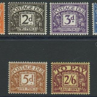 POSTAGE DUES - 1954-55 Mult Tudor Crowns & E2R set UM