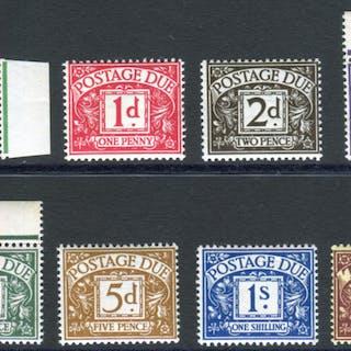 1937-38 GVIR Postage Due set - UM