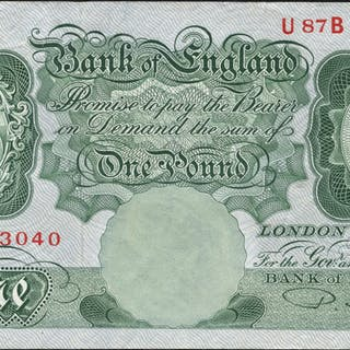 1950 Beale £1 green, Nr EF, Dugg B268