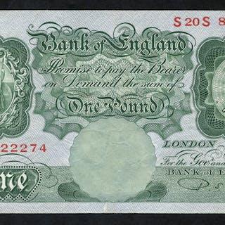 1950 Beale £1 green, VF, Dugg B269