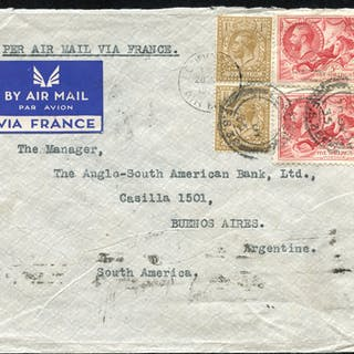1935 Airmail cover from London to Buenos Aires