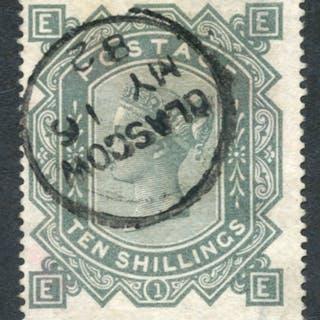 1867 Wmk Maltese Cross 10s greenish grey, SG.128