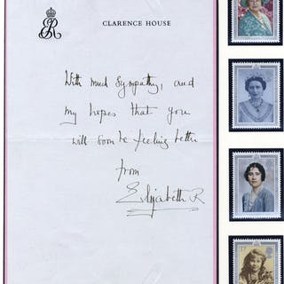 ELIZABETH - QUEEN MOTHER 1900-2002 letter on Clarence House headed