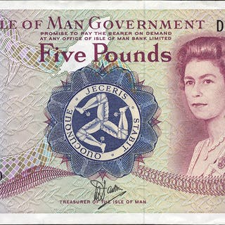 Isle of Man £5, issued 1979