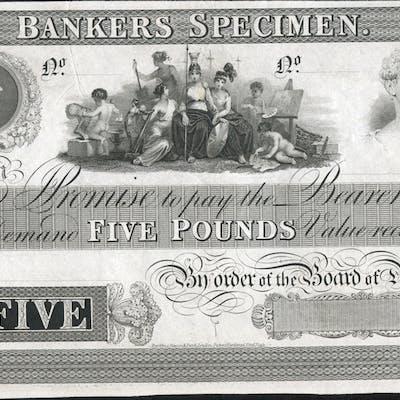Bankers Specimen Proof dated 18XX (1834-52)