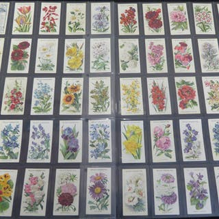 1924-39 Wills x 7 sets of Flowers, G+/VG (390)