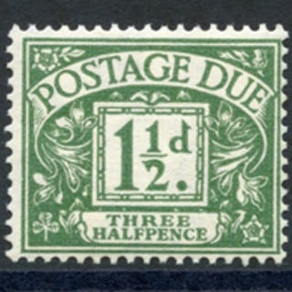 1951-54 Colours chaged Postage Due set, SGD35/9, (5)