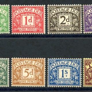 1936-37 Postage Due set, SG.D19/26. (8)