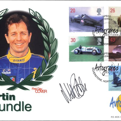 BRUNDLE, MARTIN (Formula One Racing Driver) signature on first day cover