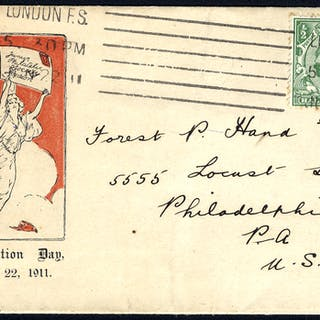 1911 Junior Philatelic Society pictorial envelope addressed to the