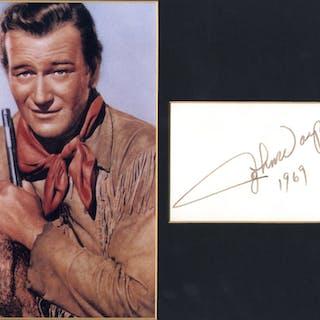 WAYNE, JOHN 1907-1999 (American Actor & Academy Award Winner) signed