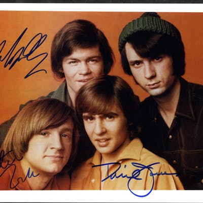 THE MONKEES (American Rock n Roll Band) singed colour photograph