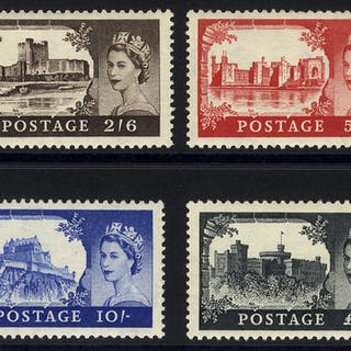 1955 Waterlow Castle set, fine MINT