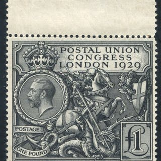 1929 £1 PUC top marginal UM example, SG.438
