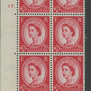 1961 Wilding 2½d Crowns II, blue phosphor (2 bands), white paper