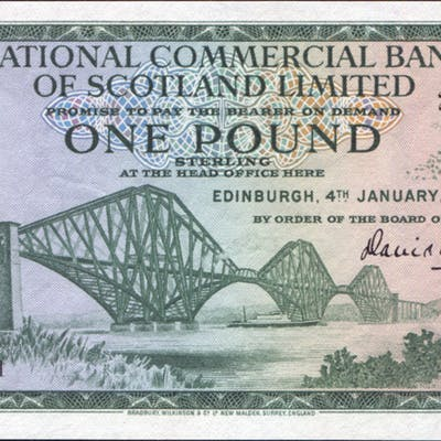 National Commercial Bank of Scotland 1967 £1 Forth Railway Bridge