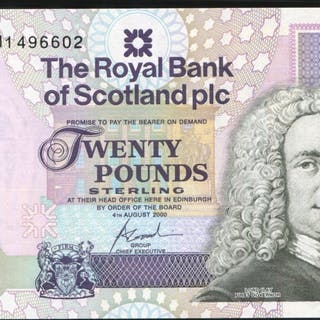Royal Bank of Scotland 2000 Birth Cent of Queen Mother £20 commemorative