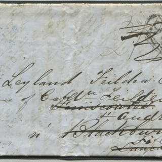 1849 incoming entire from Havana, Cuba re-directed from Blackburn to Fife