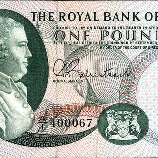 Royal Bank of Scotland 1967 £1 Dale (A/I 400067) EF, P.327a.