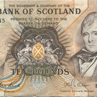 Bank of Scotland 1986 Sir Walter Scott £10