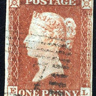 1841 1d red-brown - Plate 51 EL