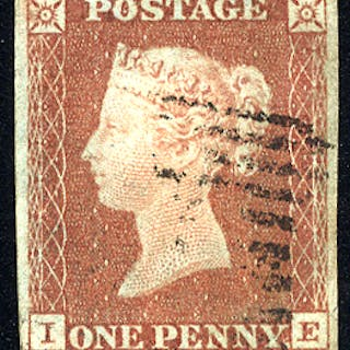 1841 1d red-brown - Plate 77 IE