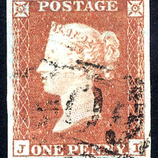 1841 1d red-brown - Plate 110 JI