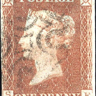 1841 1d red-brown - Plate 23 SF