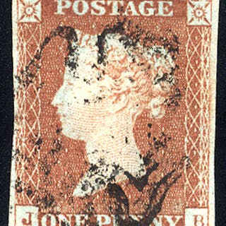 1841 1d red-brown - Plate 25 JB