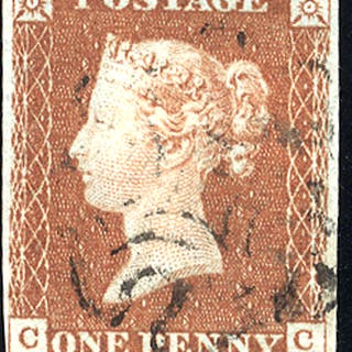 1841 1d red-brown - Plate 24 CC